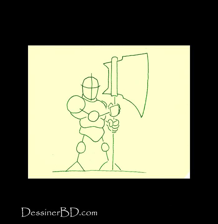 dessiner charpente nain tueur de trolls
