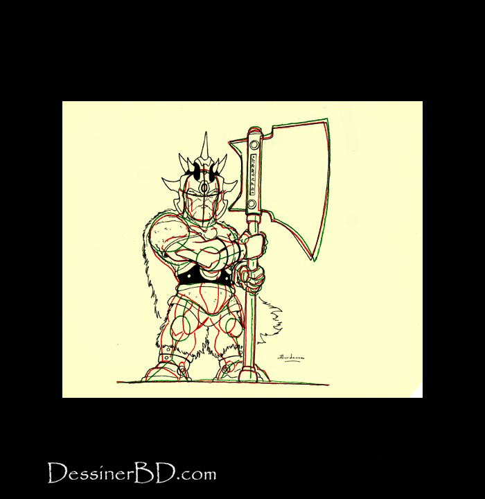 dessiner armure détails nain tueur de trolls
