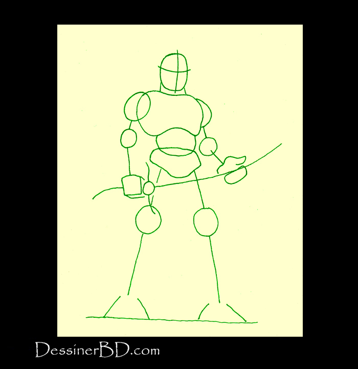 formes dessiner seigneur de guerre orque