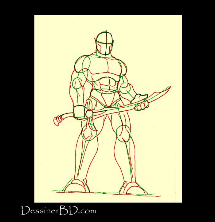 anatomie dessiner seigneur de guerre orque