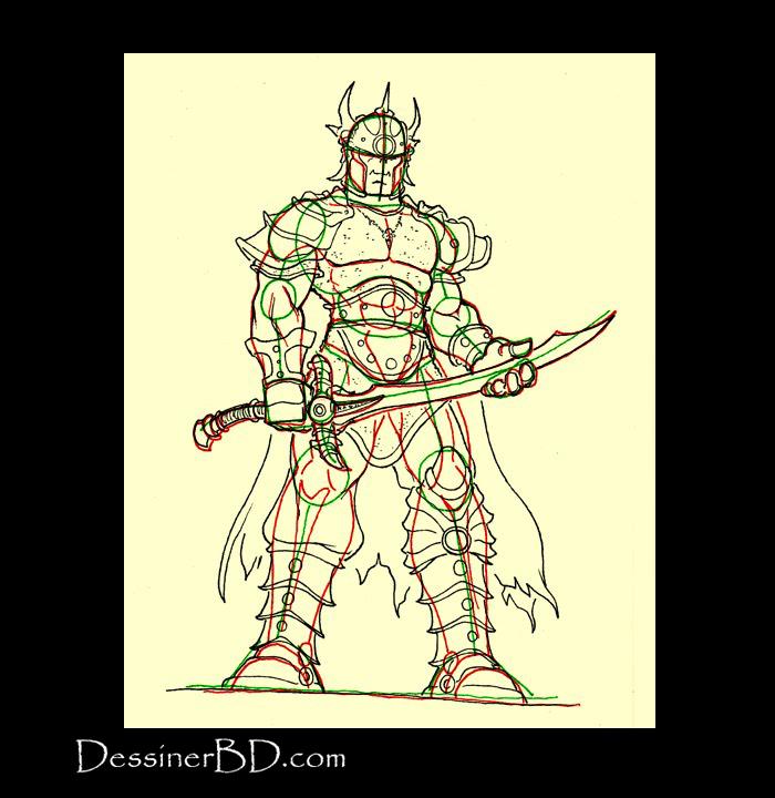 détails dessiner seigneur de guerre orque