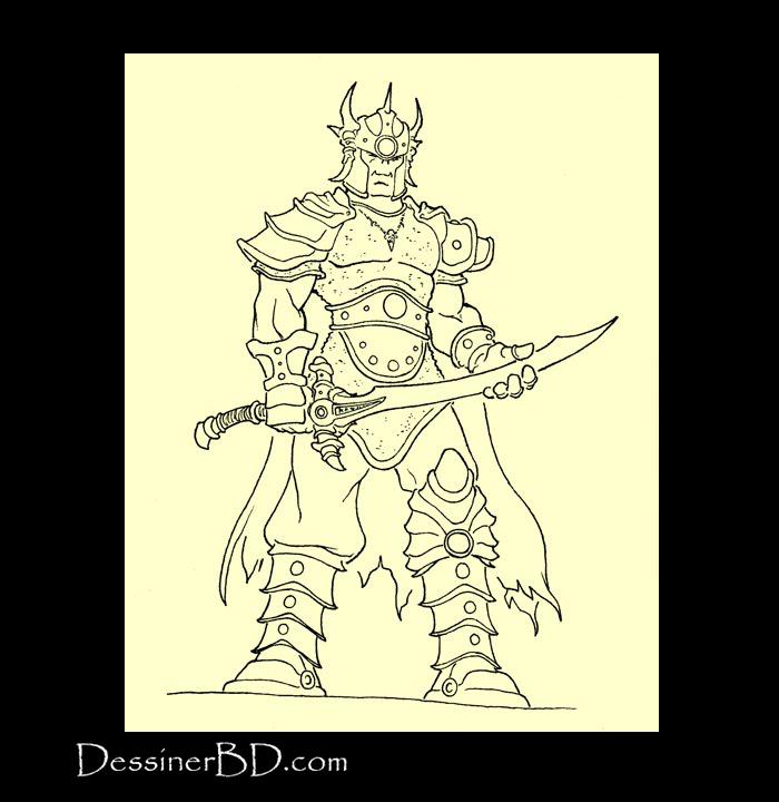 Illustration final seigneur de guerre orque