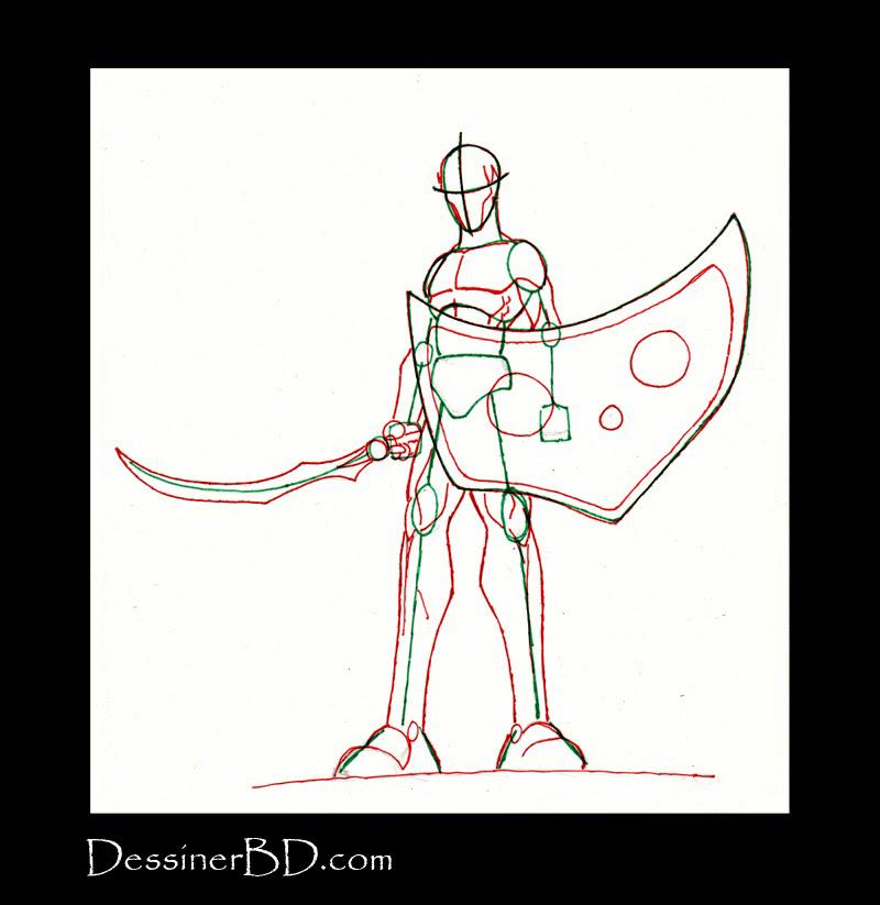 anatomie dessiner soldat elfe noir
