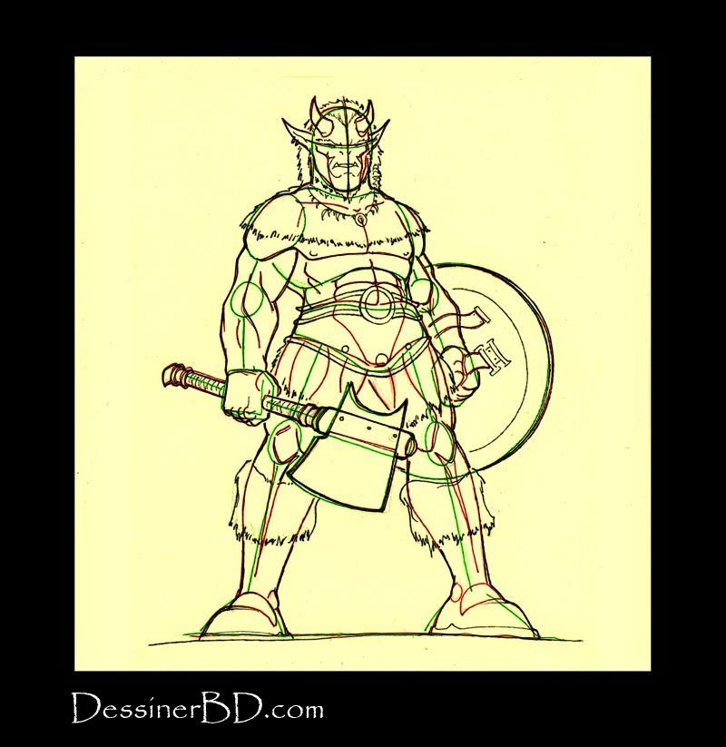 comment dessiner détails armure troll cornu