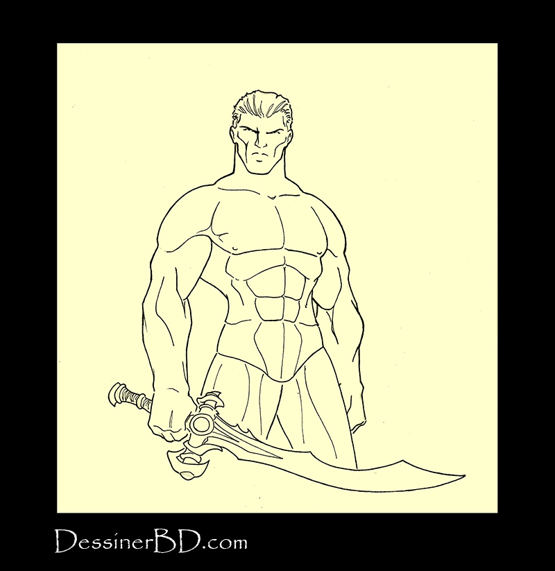 Armure complète étape 1 corps humain guerrier