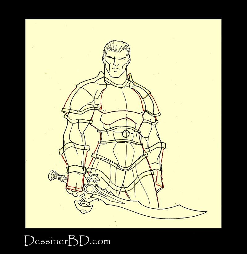 Armure mailles lourde étape 3 structure et épaulettes