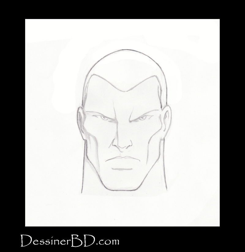 étape 2 comment dessiner des cheveux courts