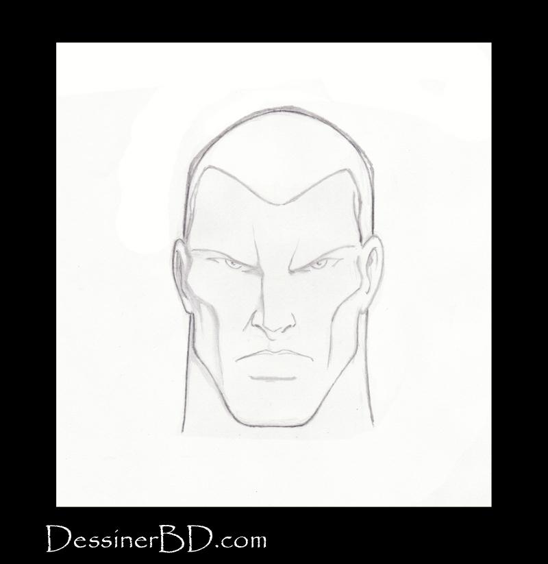 étape 3 comment dessiner des cheveux courts