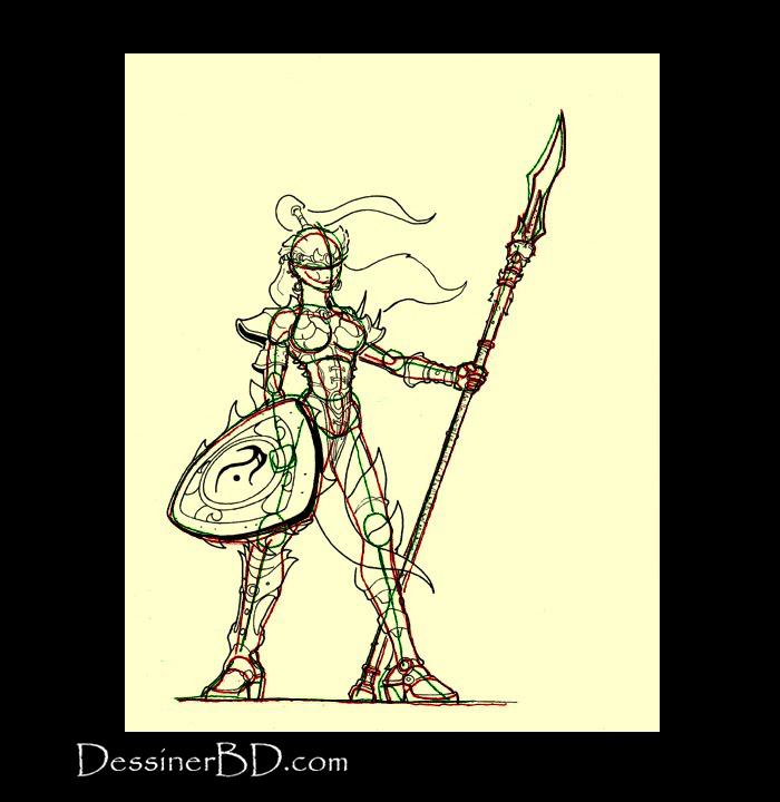 détails elfe lancière