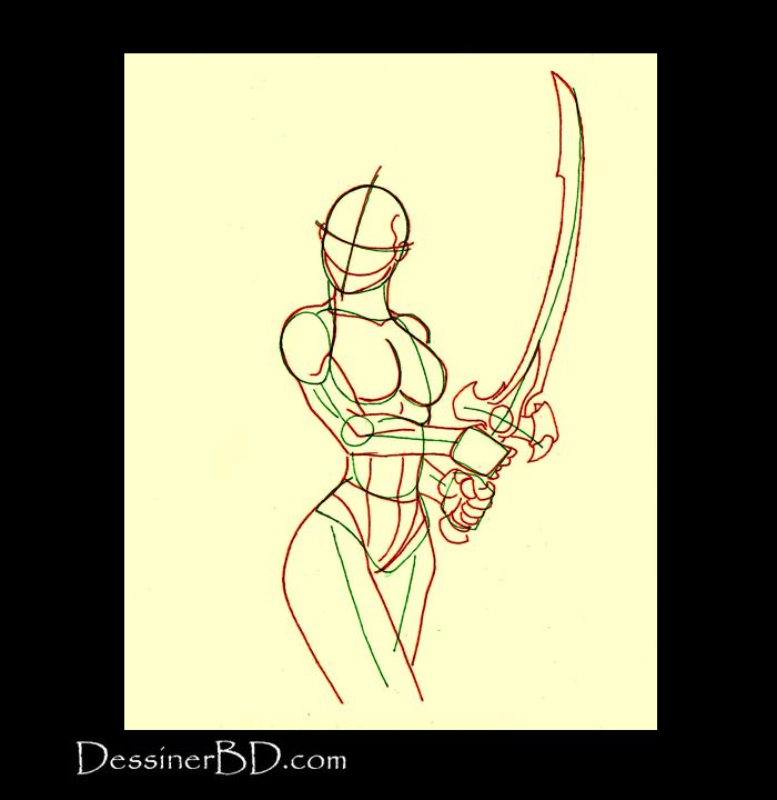 dessiner l'anatomie de guerrière