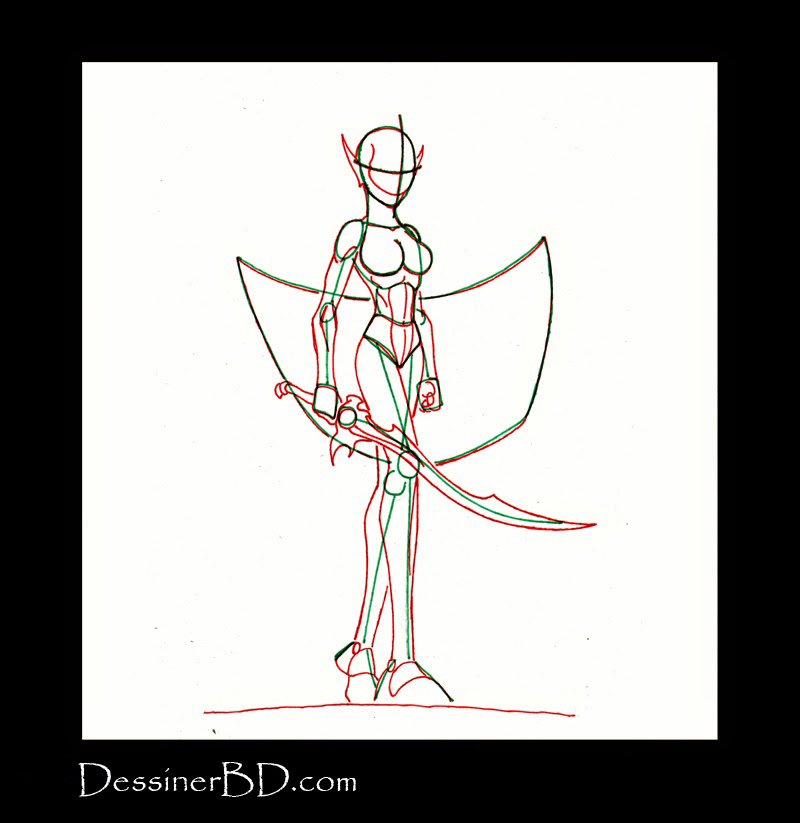 comment dessiner guerrière elfe noire anatomie