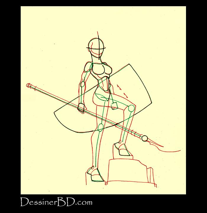 dessin anatomie amazone guerrière