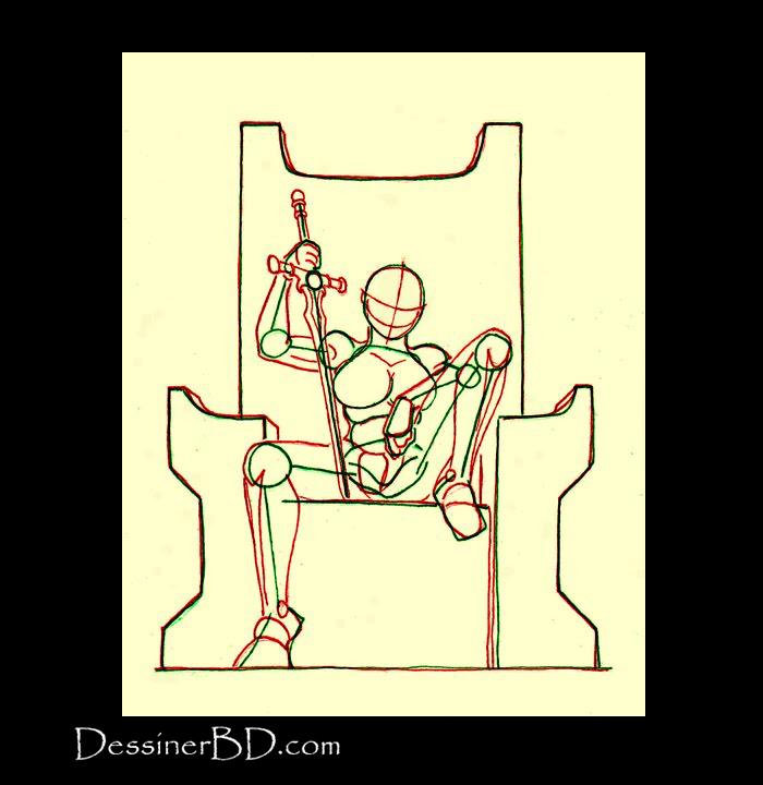anatomie dessiner une guerrière barbare