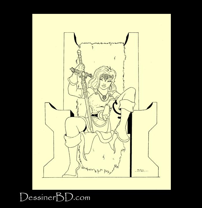 dessin final guerrière barbare