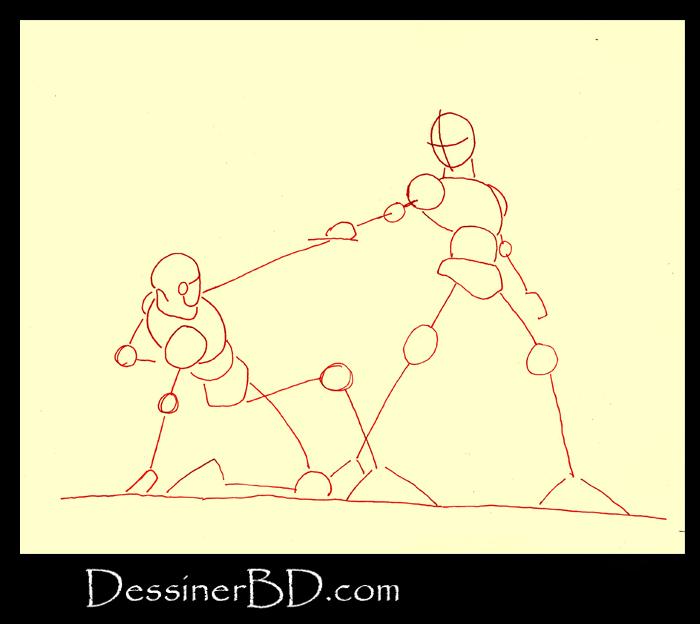 comment dessiner scene et mouvement