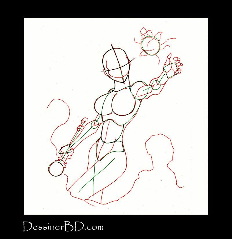 dessiner anatomie, visage et muscles sorcière nécromante