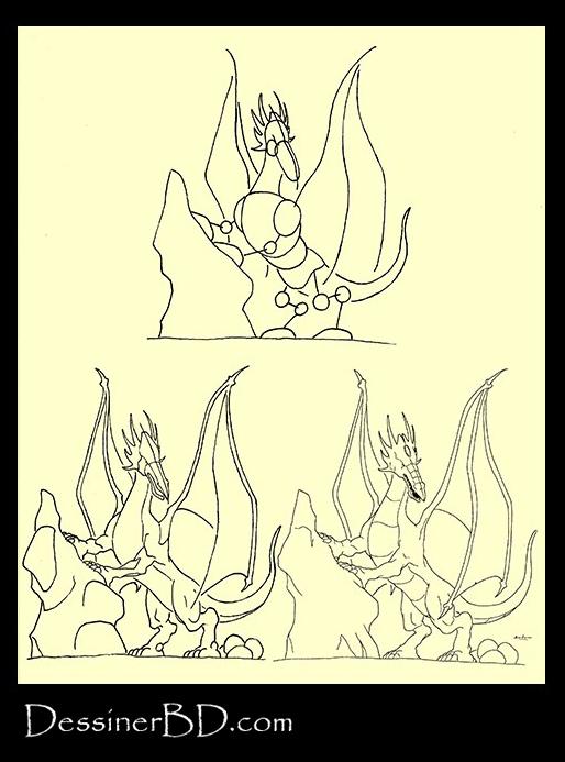 apprendre à dessiner un dragonne