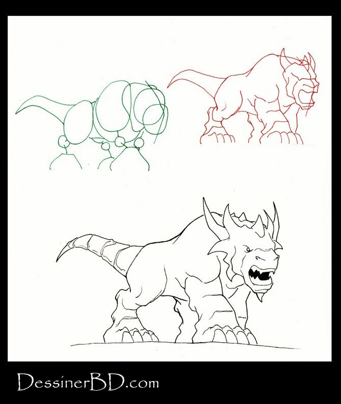 apprendre à dessiner un molosse fantastique