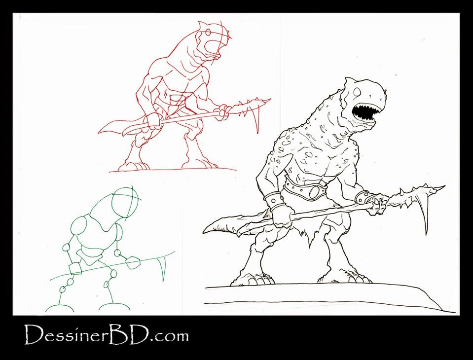 apprendre à dessiner un monstre des cavernes