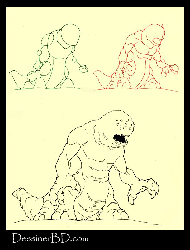 apprendre à dessiner un monstre infernal