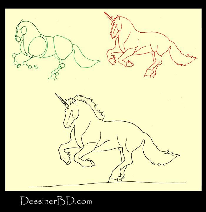 apprendre à dessiner une licorne