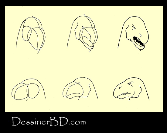 apprendre à dessiner le visage homme-lézard