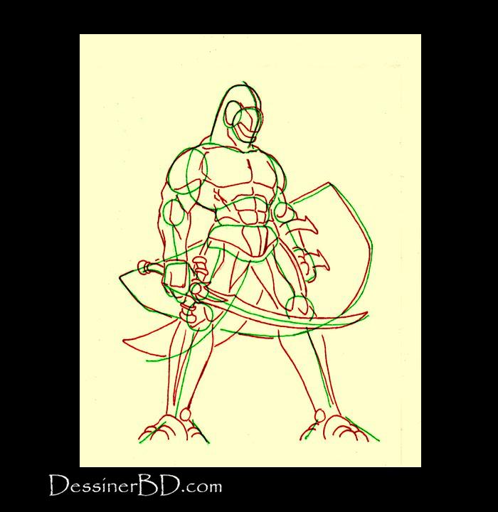dessiner muscles anatomie homme-lézard