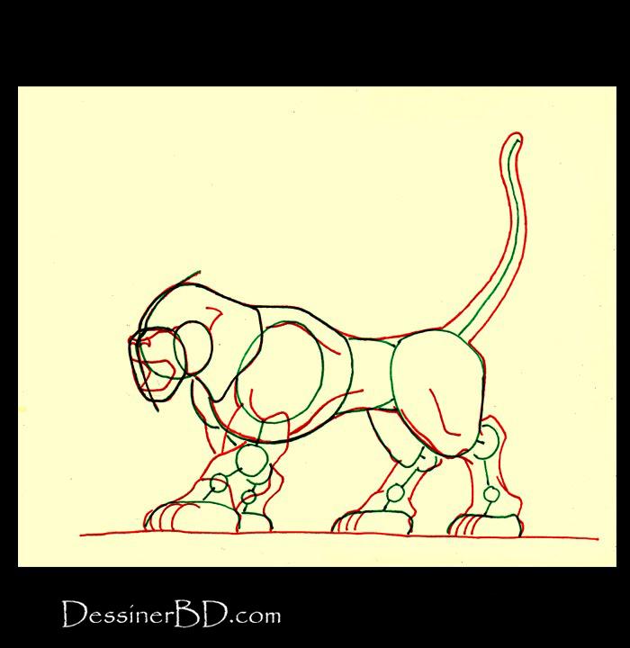 comment dessiner muscles chien noir hellhound