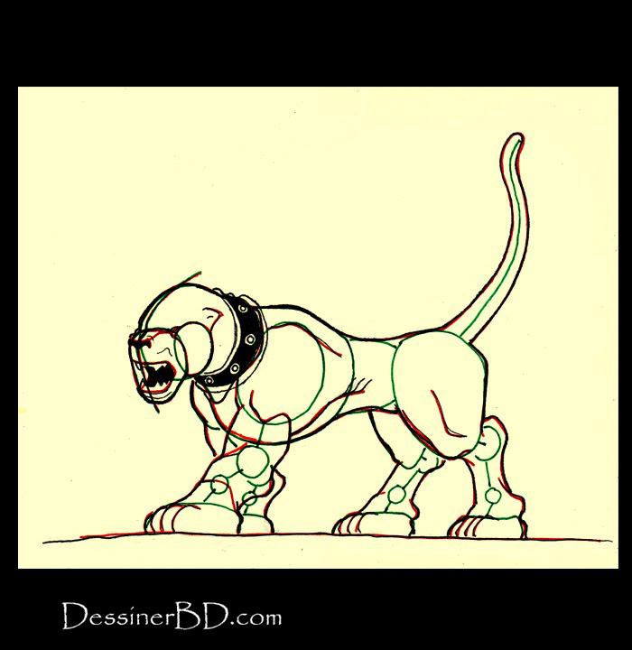comment dessiner détails chien noir hellhound