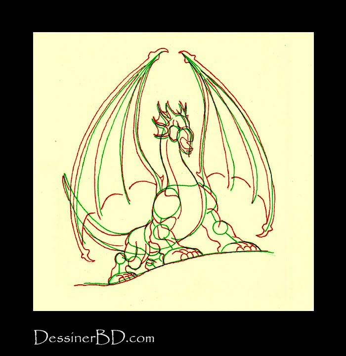 comment dessiner anatomie dragon B