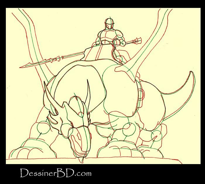 dessiner anatomie dragonnier et dragon
