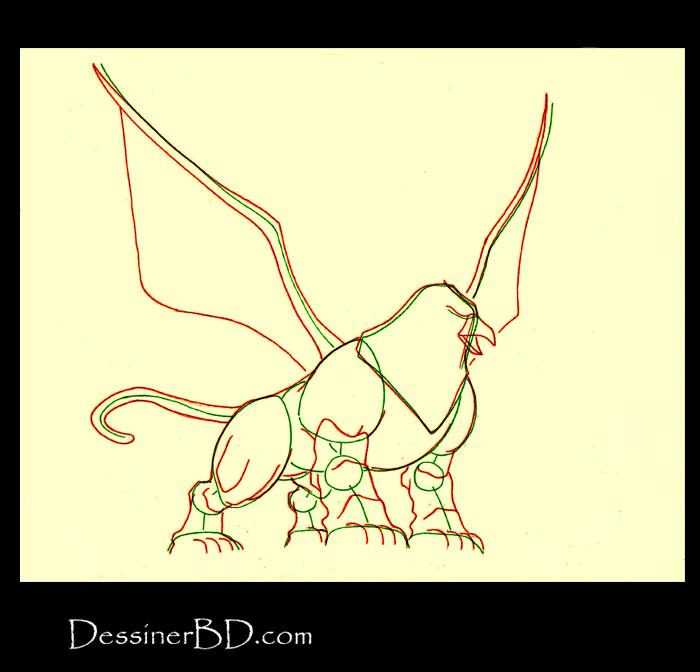 comment dessiner anatomie griffon B