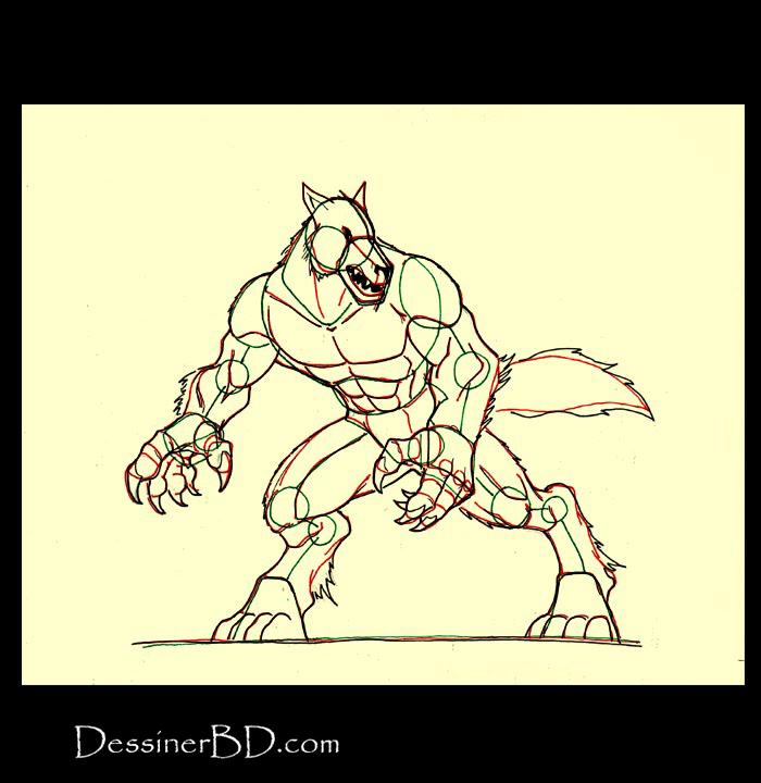 comment dessiner détails loup-garou a