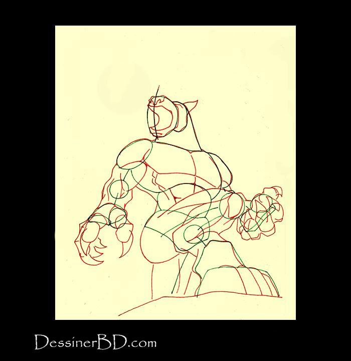 comment dessiner anatomie loup-garou b