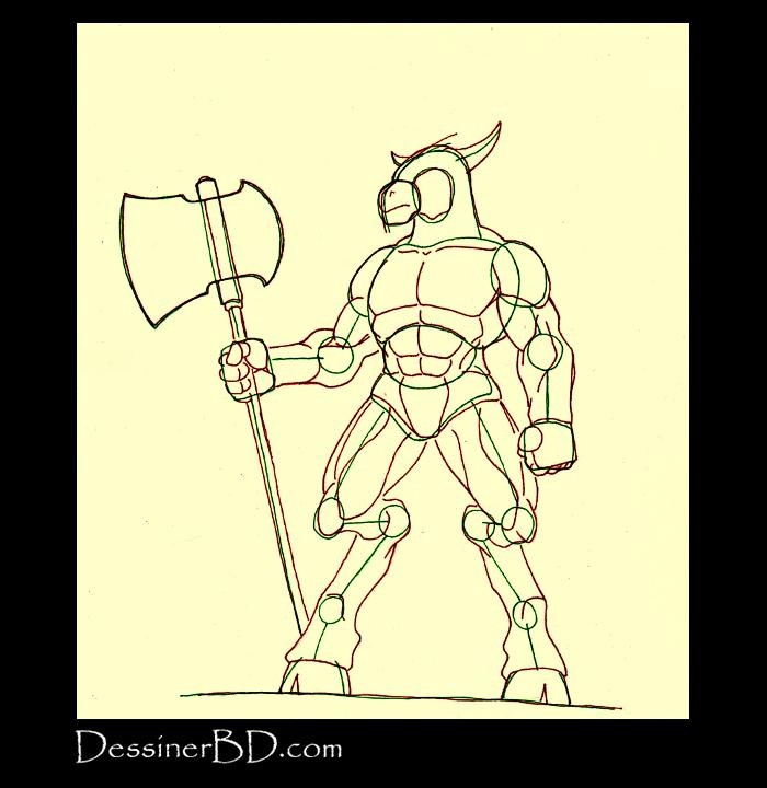 comment dessiner muscles anatomie minotaure A