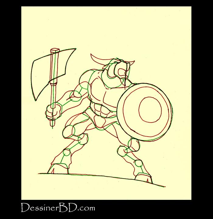 comment dessiner muscles anatomie minotaure B
