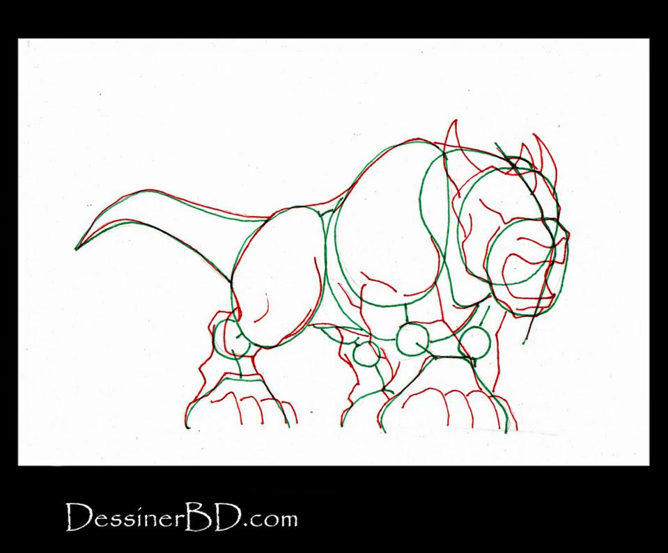 comment dessiner muscle molosse fantastique