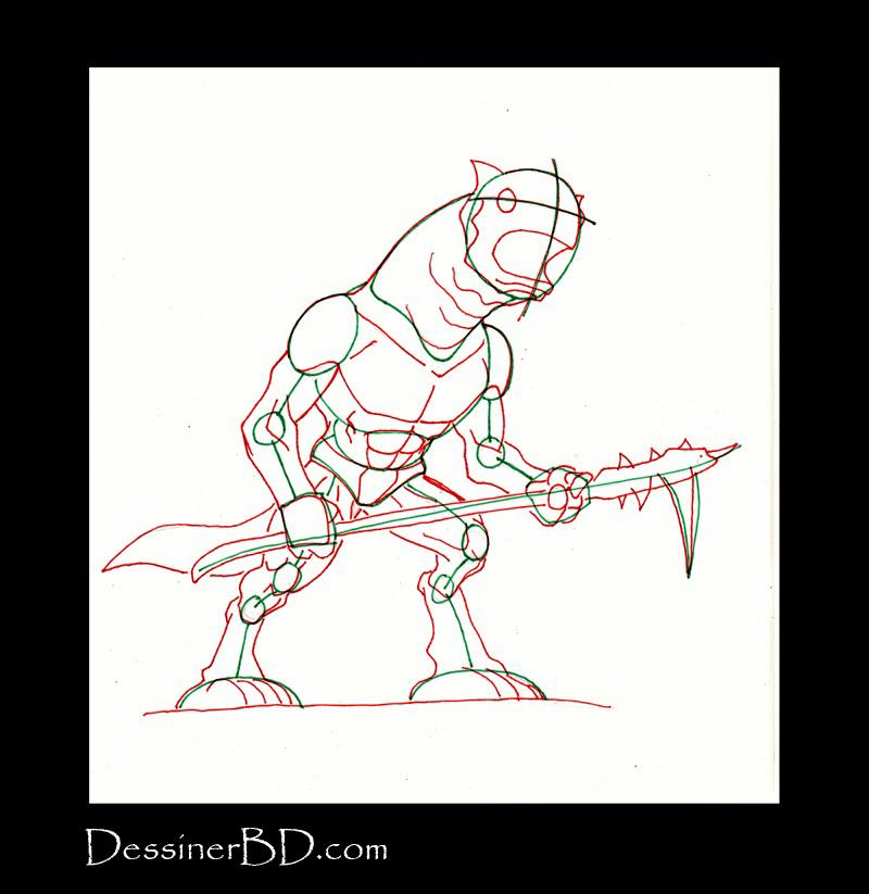 dessiner muscles anatomie monstre des cavernes