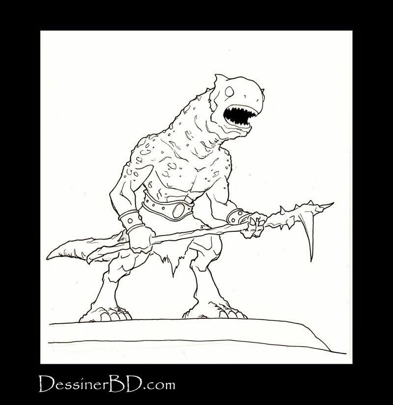 encrer monstre des cavernes