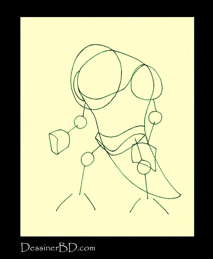 dessiner formes monstre des marais