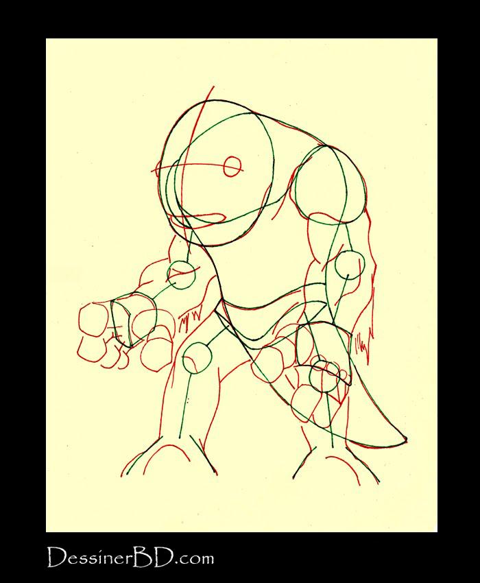 dessiner muscles anatomie monstre des marais