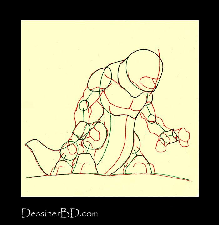 dessiner muscles anatomie monstre infernal