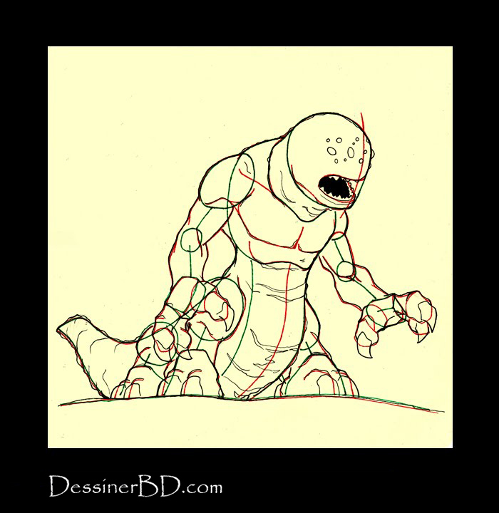 dessiner détails monstre infernal