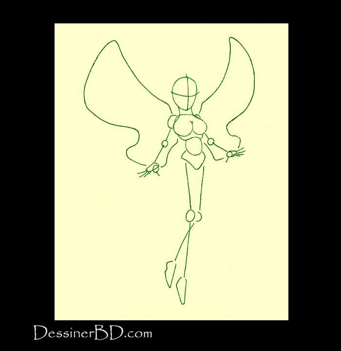 comment dessiner fée pantin forme