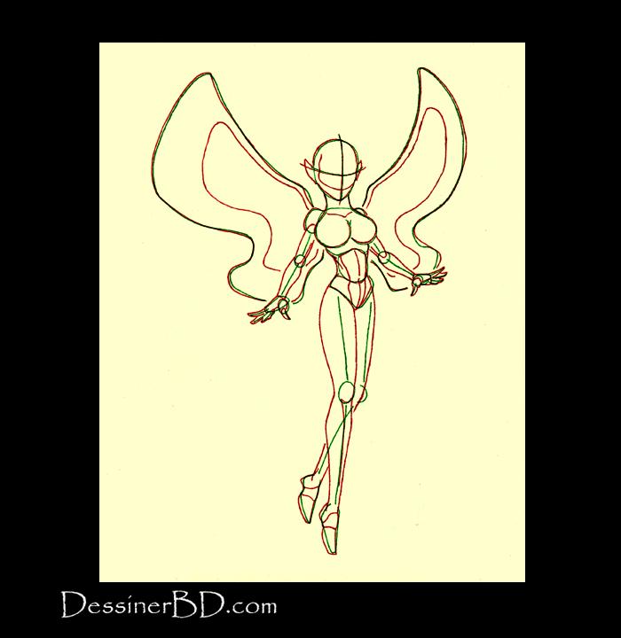 comment dessiner fée anatomie