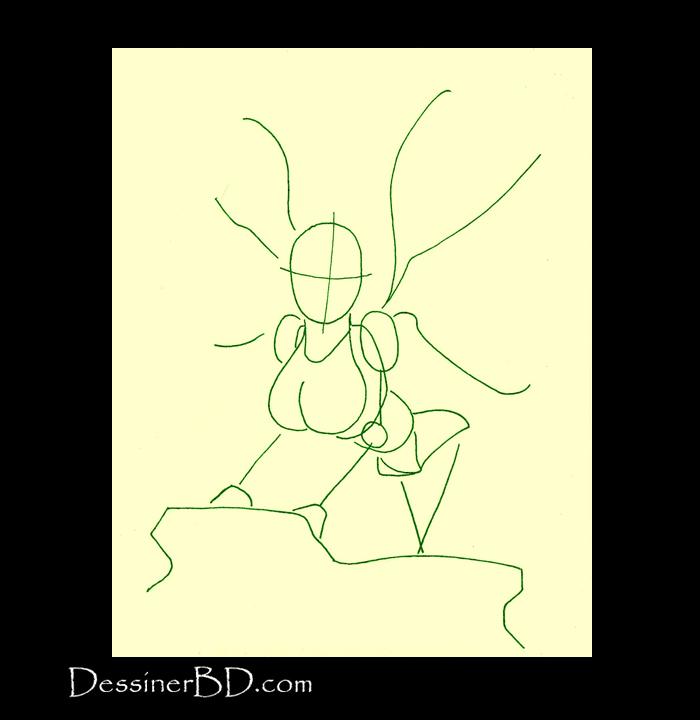 comment dessiner formes fée des forêts
