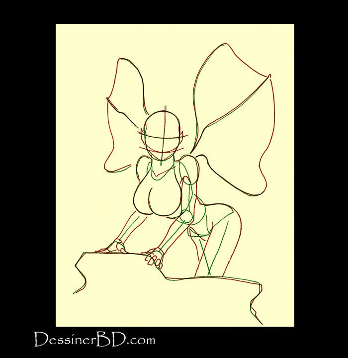 comment dessiner anatomie fée des forêts