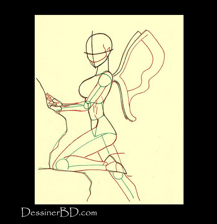 comment dessiner anatomie fée des vents