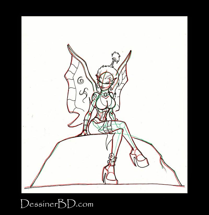 comment dessiner détails fée pixie