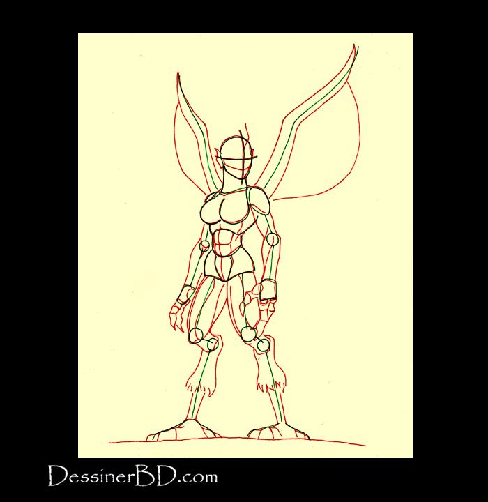 comment dessiner muscles anatomie harpie